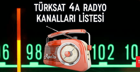 2018 Turksat 4a Radio Channels List