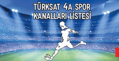 2020 Türksat 4A Spor Kanal Listesi