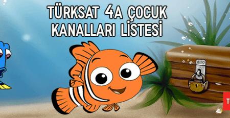 2020 Türksat 4A Çocuk Kanalları Listesi