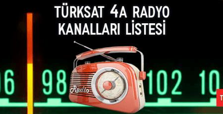 2020 Türksat 4a Radyo Kanalları Listesi
